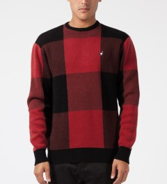 Staple Red Tartan Sweater Model Picture