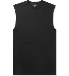 LAPSE Black Annular Sleeveless T-Shirt Picutre