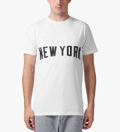 Stampd White New York T-Shirt Model Picture