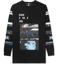 Hood By Air. Black Layered Graphic L/S T-Shirt Picture