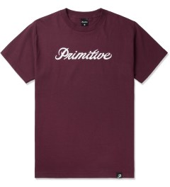 Primitive Burgundy Signature Script T-Shirt Picture