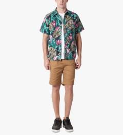 HUF Navy Waikiki S/S Woven Shirt Model Picutre