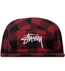 Stussy Red Flap Flannel Cap Picture