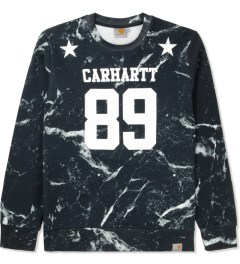 Carhartt WORK IN PROGRESS Black/White Marble Print Fan Sweater Picture