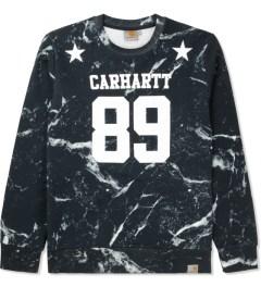 Carhartt WORK IN PROGRESS Black/White Marble Print Fan Sweater Picture