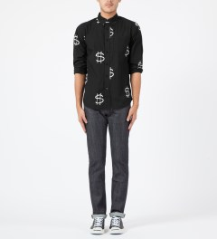 Stussy Black Money L/S Shirt Model Picture