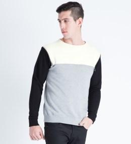 PHENOMENON Grey 3 Color Zipped Sweater Picture