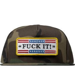 HUF Woodland Camo Fuck It Tactical Snapback Cap Picture