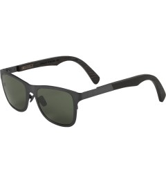 Shwood Gun Metal Titanium/Walnut Canby: G15 Polarized Sunglasses Model Picture