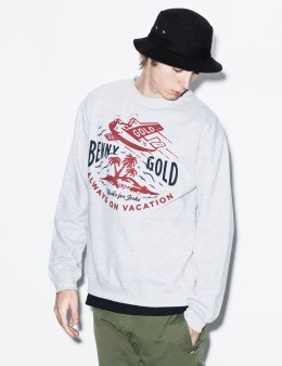 Benny Gold Grey Frequent Flyer Crewneck Sweater Picture