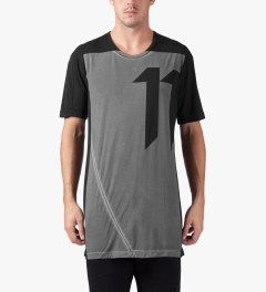 11 By Boris Bidjan Saberi Black TS-1 T-Shirt Model Picutre