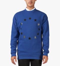 Études Studio Blue Stars Crewneck Sweater Model Picutre