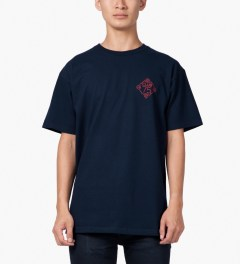 CLUB 75 HUF x Club 75 Navy T-Shirt Model Picutre