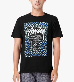 Stussy Black WT Paint T-Shirt Model Picture