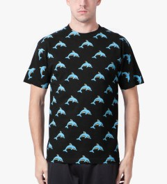 Odd Future Black Dolphin Donut All Over T-Shirt Model Picutre