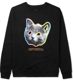 Odd Future Black OFWGKTA Tron Cat Crewneck Sweater Picture