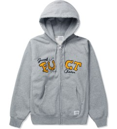 FUCT SSDD Heather Grey SSDD GOOD CHARM ZIP HOODIE Picutre