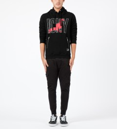 ICNY Staple x ICNY Black Design Sweatshirt Hoodie Model Picture