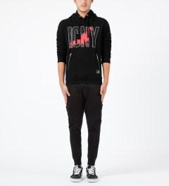 ICNY Staple x ICNY Black Design Sweatshirt Hoodie Model Picture
