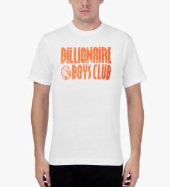 Billionaire Boys Club White/Golden Poppy S/S Straight Logo T-Shirt Model Picture
