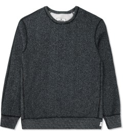 Reigning Champ Black/Natural RC-3207-16 Tiger Fleece L/S Crewneck Sweater Picture