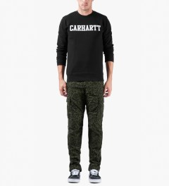 Carhartt WORK IN PROGRESS Panther Print/Cypress Lincoln Single Knee Pants Model Picutre