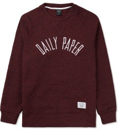 Daily Paper Red Melange Script Logo Sweater Picture