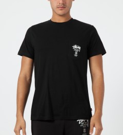 Stussy Black World Tour S/S Pocket T-Shirt Model Picture