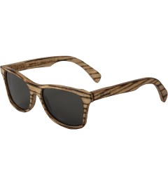 Shwood Grey Polarized Canby: Slugger Original Sunglasses Model Picture