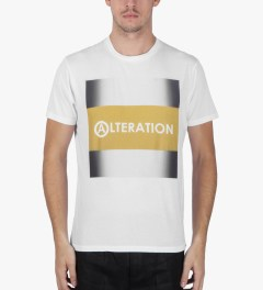 U.S. Alteration White AS14 Yellow Stripe T-Shirt Model Picture