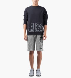 Undefeated Heather Grey HB Sweatshorts Model Picutre