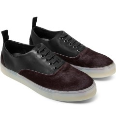 SILENT Damir Doma Black/Burgundy Falcata Shoes Model Picture