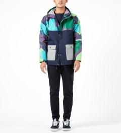 Lazy Oaf Camo Panel Mac Jacket Model Picture