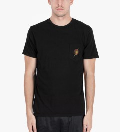 Lightning Bolt Black Aloha Pocket T-Shirt Model Picutre
