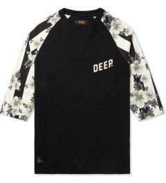 10.Deep Black Slope 3/4 Baseball T-Shirt Picture