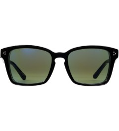 Linda Farrow Black Acetate With Blue Lens Sunglasses Picture