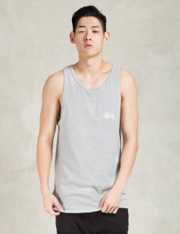 Stussy Grey Heather Basic Logo Tank Top Picture