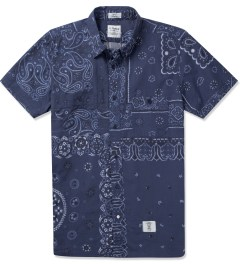"Bedwin & The Heartbreakers Navy ""BOB"" S/S OG Bandana Work Shirt Picture"