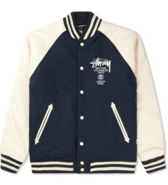 Stussy Dark Navy World Tour Wool Jacket Picture