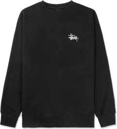 Stussy Black Basic Logo Crewneck Sweater Picture
