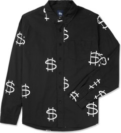 Stussy Black Money L/S Shirt Picture
