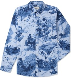 Carhartt WORK IN PROGRESS Nature Print Rinsed L/S Fleming Shirt Picutre