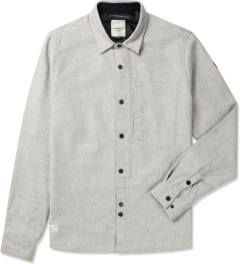 Marshall Artist Light Grey Melange Lined Wool Shirt Picutre