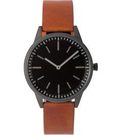 Uniform Wares PVD Gun Grey / Tan 250 Series Wristwatch Picture