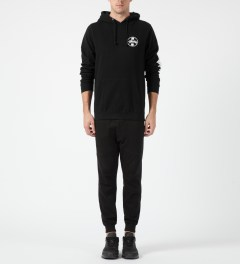 Stussy Black Worldwide Dot Hoodie Model Picture