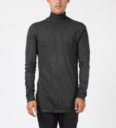 SILENT Damir Doma Charcoal Tinemsi Turtle Neck Shirt Model Picture