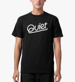 The Quiet Life Black Quiet Script T-Shirt Model Picutre