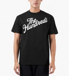 The Hundreds Black Forever Slant T-Shirt Model Picture