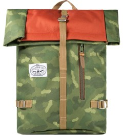 Poler Camo/Orange Roll-Top Backpack Picutre