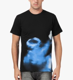 Libertine-Libertine Black/Blue Print Brake Photo Complex T-Shirt Model Picture